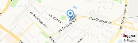 Красный Яр на карте Тюмени