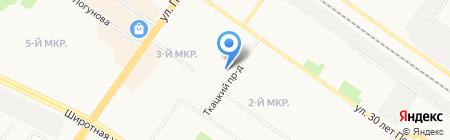 Диана на карте Тюмени