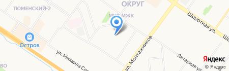 Vesta на карте Тюмени