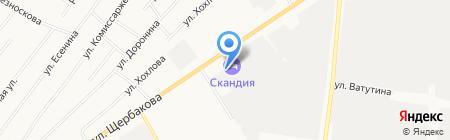Новэра на карте Тюмени