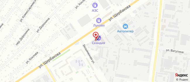 Карта расположения пункта доставки Тюмень Щербакова в городе Тюмень