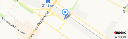 Аквамарин на карте Тюмени