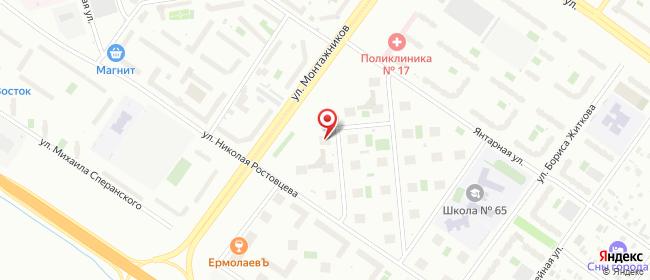Карта расположения пункта доставки На Монтажников в городе Тюмень
