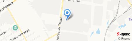 Техстрой на карте Тюмени