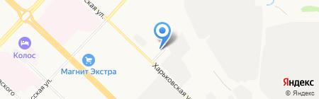 Автомойка на Харьковской на карте Тюмени