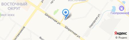 Декольте на карте Тюмени