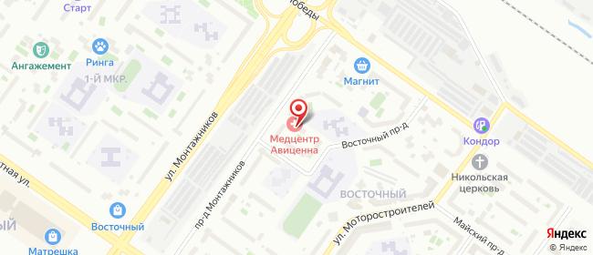 Карта расположения пункта доставки Тюмень Монтажников в городе Тюмень