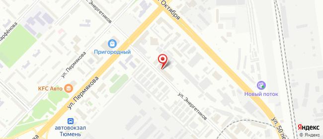 Карта расположения пункта доставки DPD Pickup в городе Тюмень