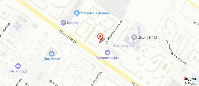 Карта расположения пункта доставки Пункт выдачи в городе Тюмень