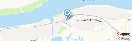 Антар на карте Тюмени