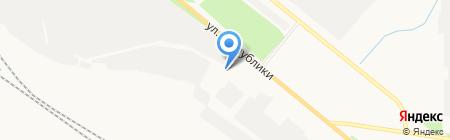 Тиккурила на карте Тюмени