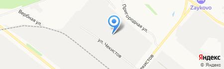 Мобиль на карте Тюмени