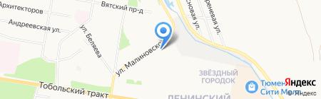 Гелиос на карте Тюмени
