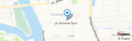 Алена на карте Тюмени