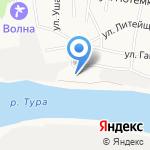 Полесье на карте Тюмени