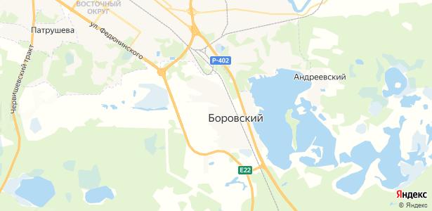 Боровский на карте