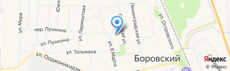Средняя общеобразовательная школа №2 на карте Боровского
