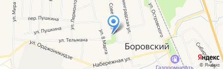 Добрый лекарь на карте Боровского