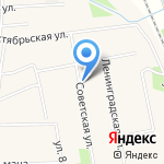 Боровская взрослая библиотека на карте Боровского