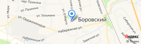 Центральный на карте Боровского