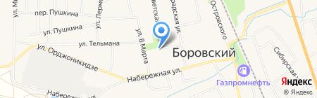 Русский стиль на карте Боровского