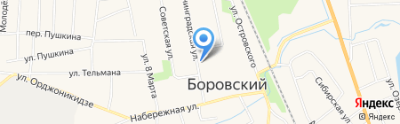 Боровое торфопредприятие на карте Боровского