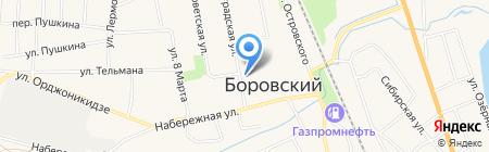 Магазин разливных напитков на Ленинградской на карте Боровского
