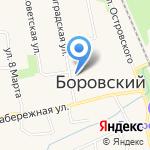 Магазин разливных напитков на карте Боровского