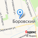 Администрация Боровского муниципального образования на карте Боровского