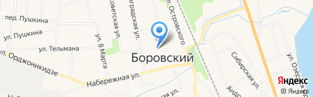 МегаФон на карте Боровского