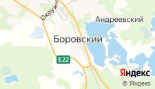 Отели города Боровский на карте