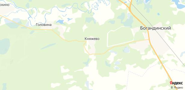 Княжево на карте