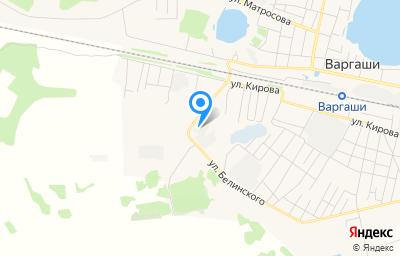 Местоположение на карте пункта техосмотра по адресу Курганская обл, рп Варгаши, ул Чернышевского, д 3Б