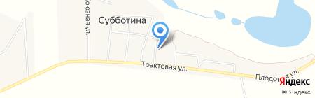 Фельдшерско-акушерский пункт на карте Субботиной