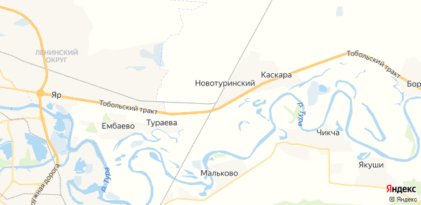 Новотуринский на карте