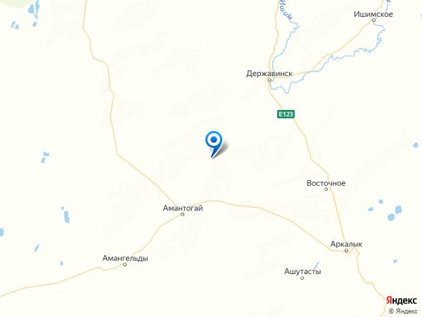 село Горняк на карте