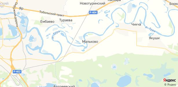 Мальково на карте