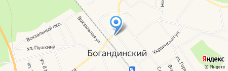 Тайга на карте Богандинского
