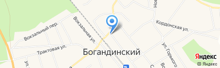 Магазин по продаже фруктов и овощей на Комсомольской на карте Богандинского