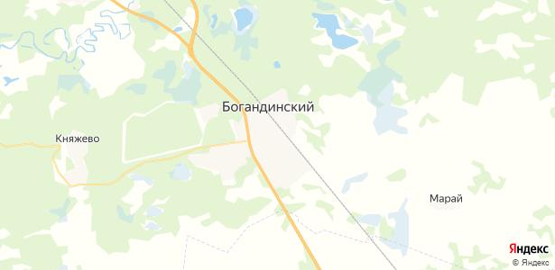Богандинский на карте