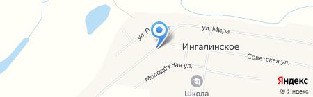 Продуктовый магазин на ул. Мира на карте Ингалинского