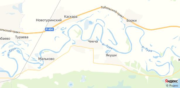 Чикча на карте