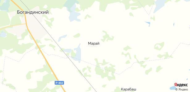Марай на карте