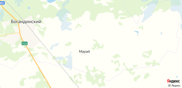 Аманадское на карте
