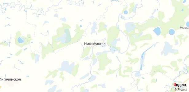 Нижнеингал на карте