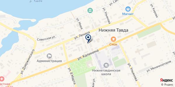 АДМИНИСТРАЦИЯ ТАРМАНСКОГО СЕЛЬСКОГО ПОСЕЛЕНИЯ на карте Нижней Тавде