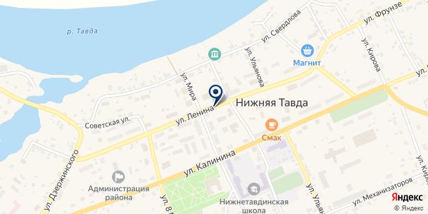 МАГАЗИН ТОПОЛЕК на карте Нижней Тавде