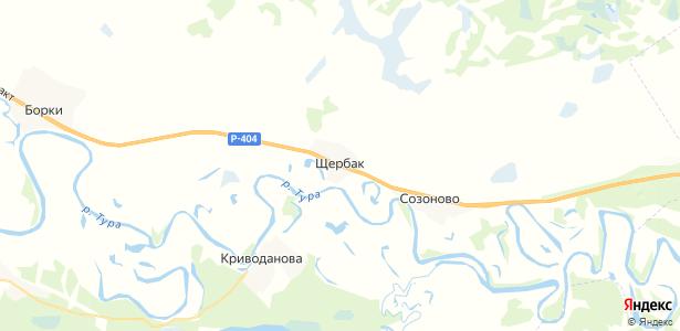 Щербак на карте
