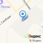 Звезда на карте Ялуторовска