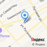 Межмуниципальный отдел государственной инспекции по безопасности дорожного движения на карте Ялуторовска